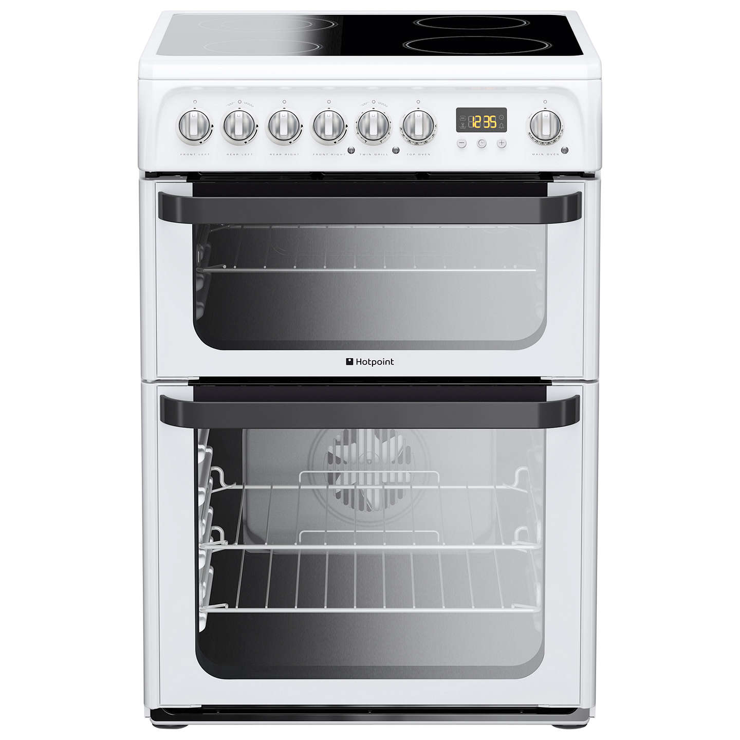 Hotpoint JLE60P Signature Electric Cooker, White at John Lewis