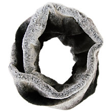 Buy Chesca Faux Fur Snood, Black/Cream Online at johnlewis.com