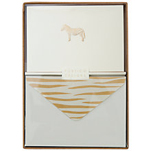 Buy Portico Foiled Zebra Notecards, Box of 10 Online at johnlewis.com