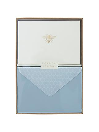 Portico Foiled Bee Notecards, Box of 10
