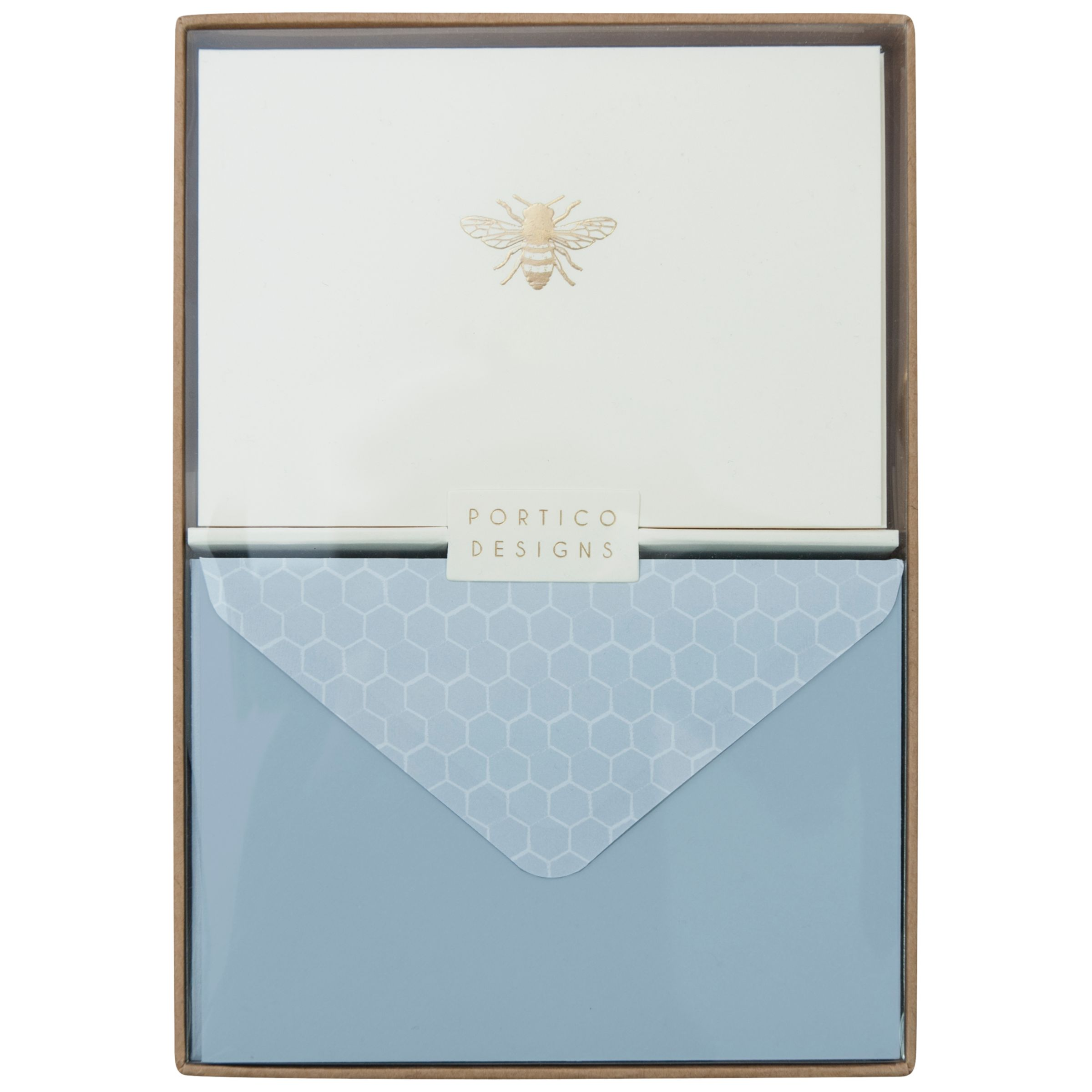 Portico Portico Foiled Bee Notecards, Box of 10