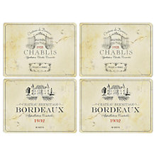 Buy Pimpernel Vin De France Placemats, Large, Set of 4 Online at johnlewis.com