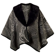 Buy Chesca Pasiley Jacquard Wrap, Charcoal Online at johnlewis.com
