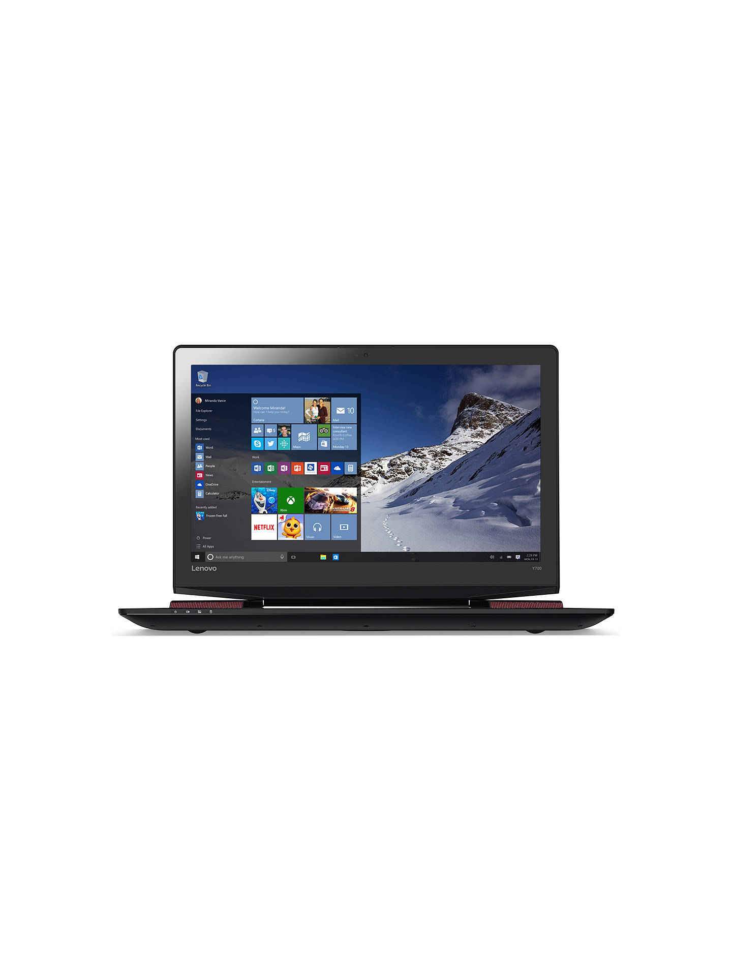 Lenovo Ideapad Y700 Gaming Laptop, Intel Core i7, 16GB RAM, 256GB