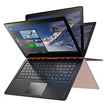 "Buy Lenovo YOGA 900 Convertible Laptop, Intel Core i7, 8GB RAM, 256GB SSD, 13"" QHD+ Touch Screen Online at johnlewis.com"