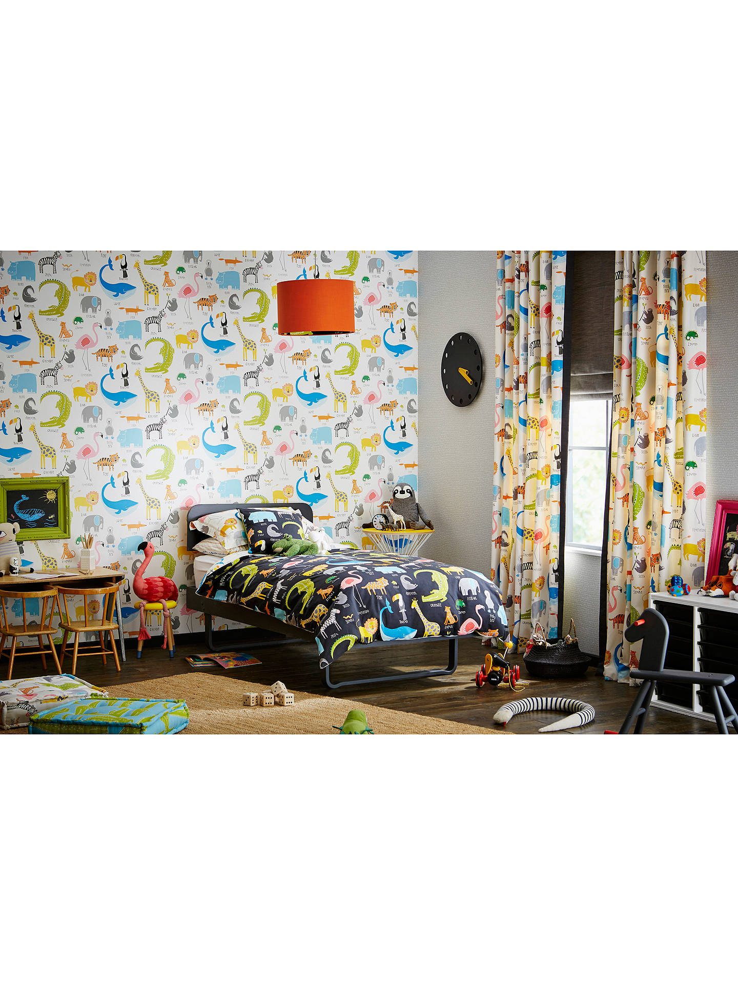 Buy Scion Animal Magic Wallpaper, Tutti Frutti / Chalk, 111287 Online at johnlewis.com