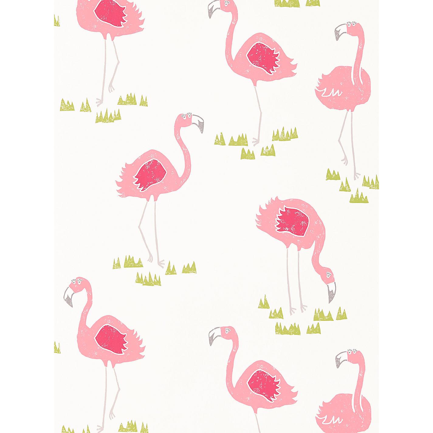 Flamingo wallpaper for John lewis bathroom wallpaper