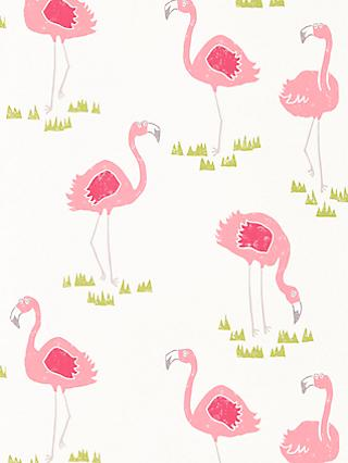 Scion Felicity Flamingo Wallpaper
