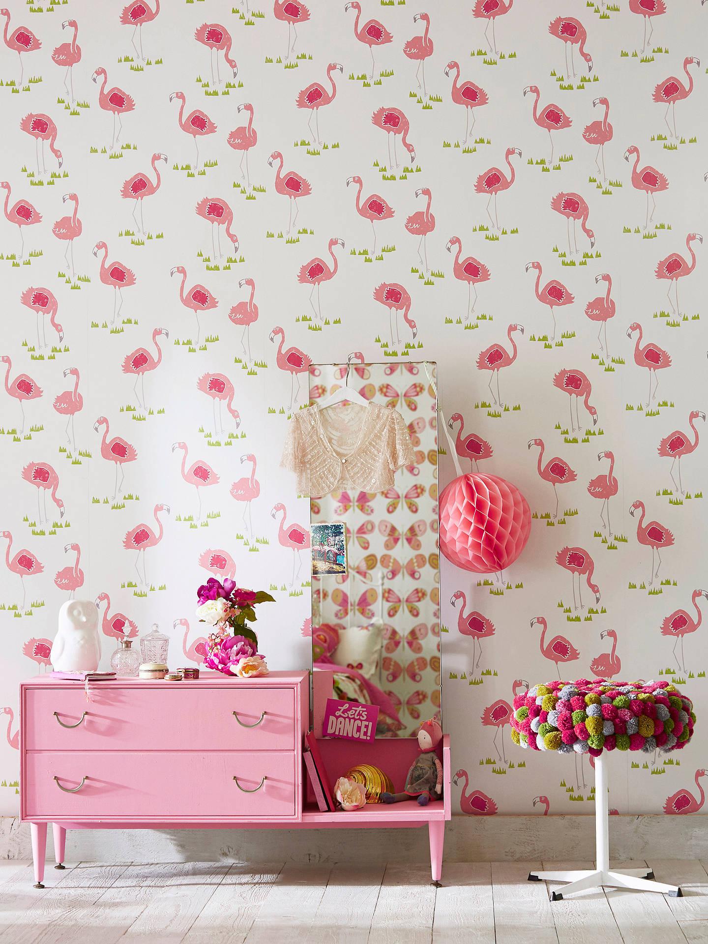 Scion Felicity Flamingo Wallpaper At John Lewis Partners