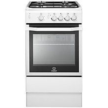 Buy Indesit I5GGW Freestanding Gas Cooker, White Online at johnlewis.com
