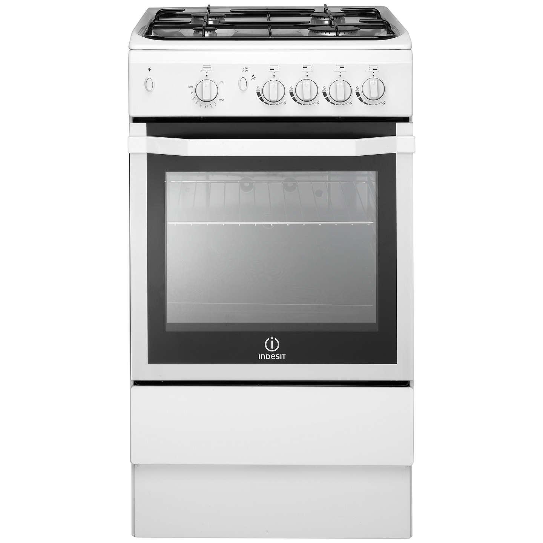 indesit i5ggw freestanding gas cooker white at john lewis. Black Bedroom Furniture Sets. Home Design Ideas