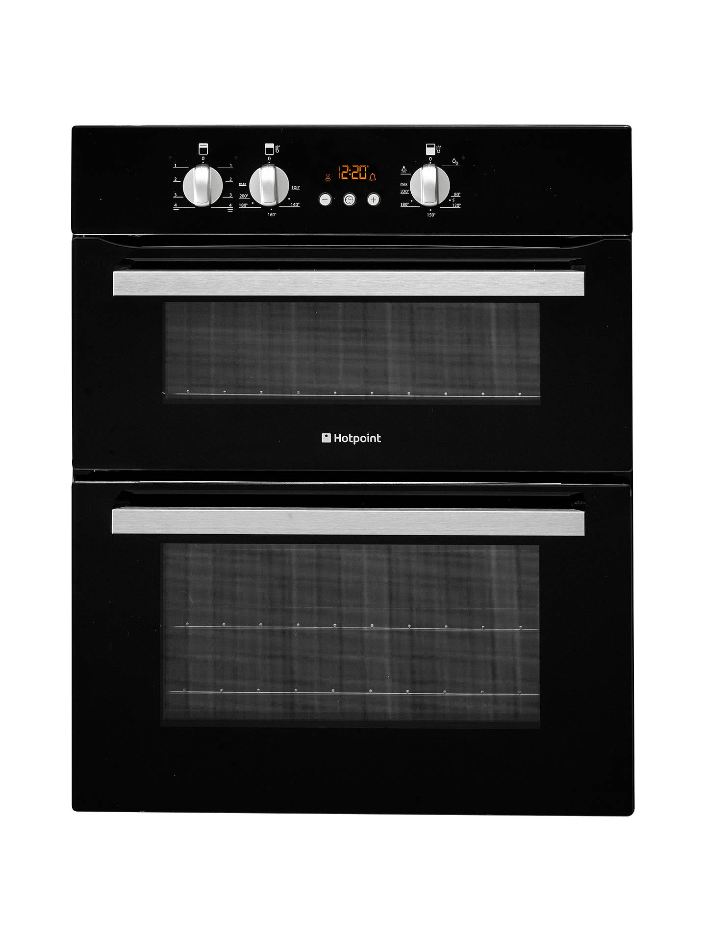 hotpoint ucl08cb double built under electric oven black. Black Bedroom Furniture Sets. Home Design Ideas