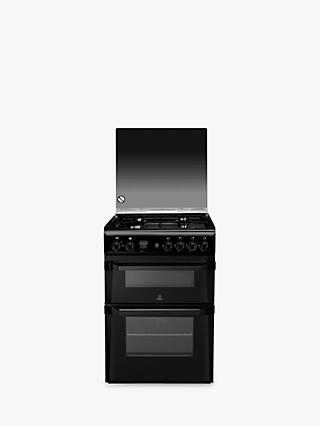 Indesit ID60G2K Freestanding Gas Cooker, Black