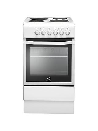 Indesit I5ESHW Freestanding Electric Cooker, White