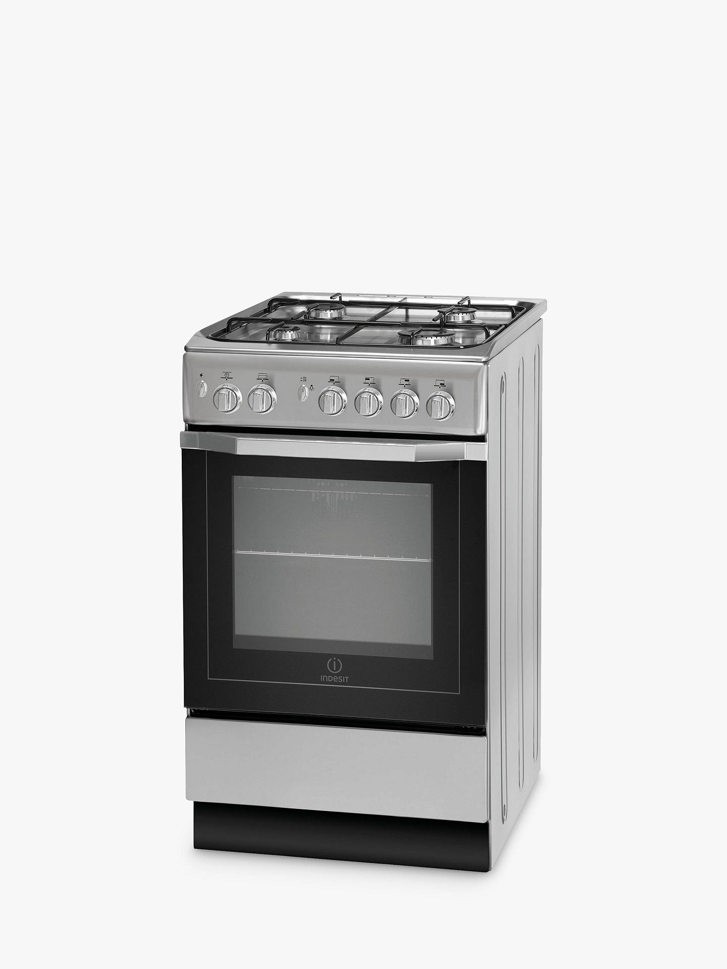 indesit i5gg1s freestanding gas cooker silver at john. Black Bedroom Furniture Sets. Home Design Ideas