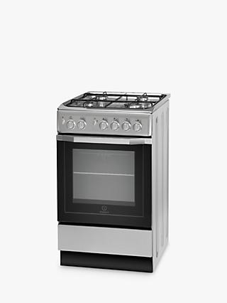 Indesit I5GG1S Freestanding Gas Cooker, Silver