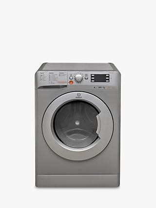 Indesit Innex XWDE751480XS Freestanding Washer Dryer, 7kg Wash/5kg Dry Load, A Energy Rating, 1400rpm Spin, Silver