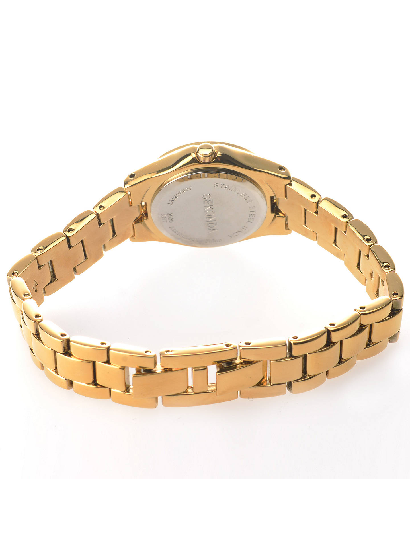 BuySekonda 2020.27 Women's Diamante Bracelet Strap Watch, Gold Online at johnlewis.com