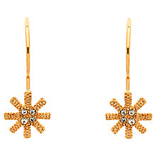 Buy Cachet Swarovski Crystals Snowflake Earrings, Rose Gold Online at johnlewis.com