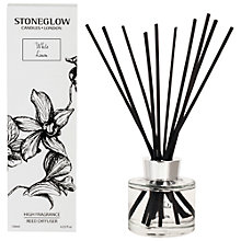 Buy Stoneglow White Orchid New White Linen Diffuser, 120ml Online at johnlewis.com