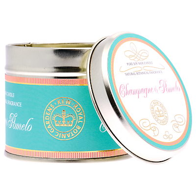 Kew Gardens Champagne & Pomelo Scented Candle Tin