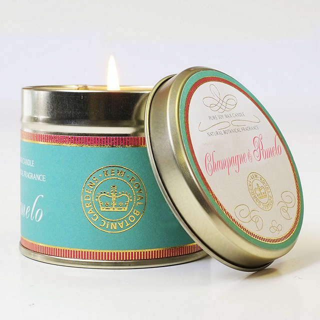 BuyKew Gardens Champagne & Pomelo Scented Candle Tin Online at johnlewis.com