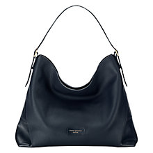 Buy Aspinal of London Leather Hobo Bag, Navy Online at johnlewis.com