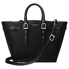 Buy Aspinal of London Marylebone Medium Leather Tote Bag, Black Online at johnlewis.com