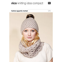 Buy Rico Gigantic Mohair Hat and Scarf Knitting Pattern Online at johnlewis.com