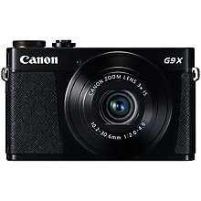 "Buy Canon PowerShot G9 X Digital Camera, 1080p, 20MP, 3x Optical Zoom, OIS, NFC, Wi-Fi, 3"" Touch Screen Online at johnlewis.com"