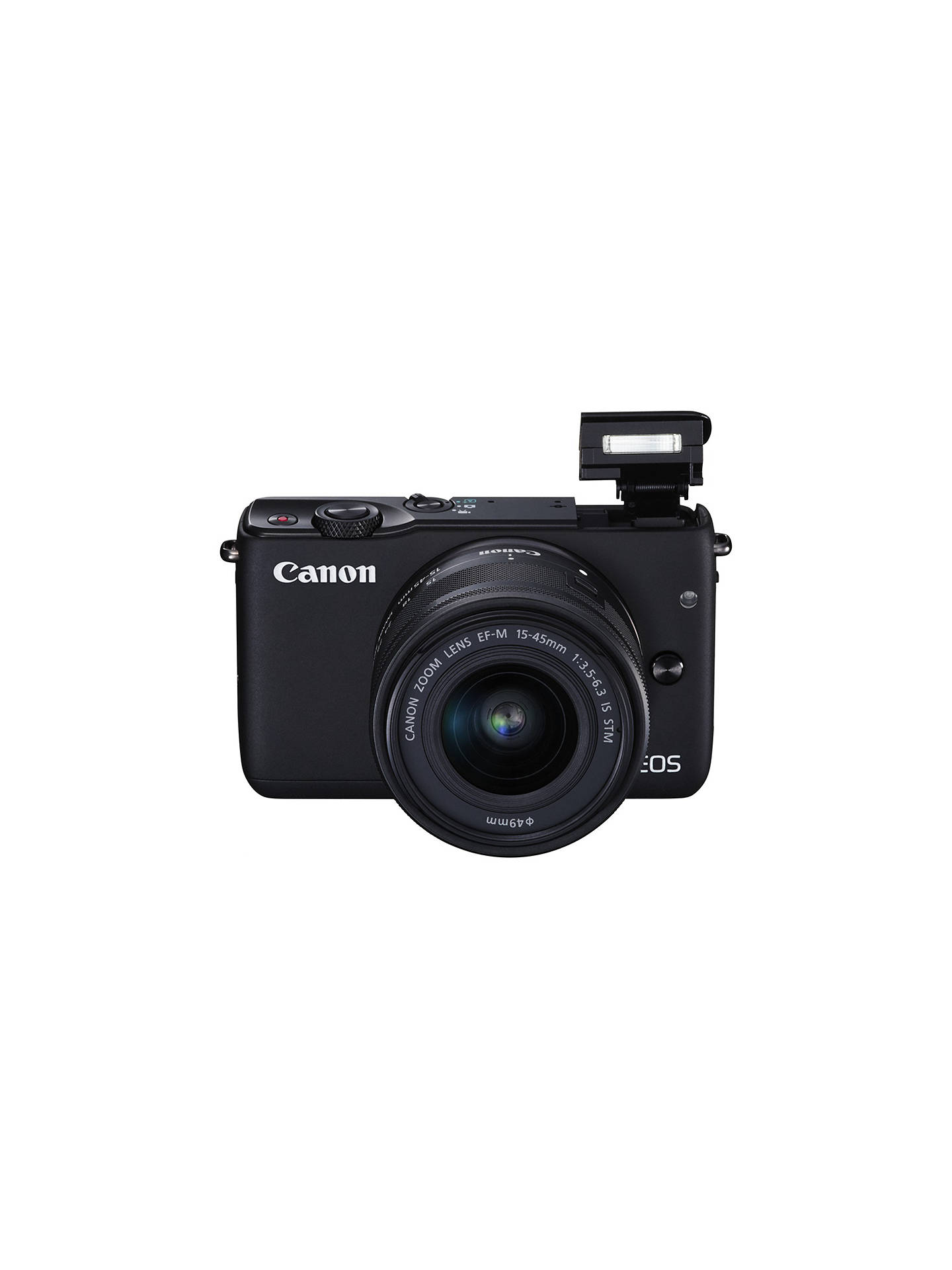 "BuyCanon EOS M10 Compact System Camera with EF-M 15-45mm f/3.5-6.3 IS STM Wide Angle Zoom Lens, HD 1080p, 18MP, NFC, Wi-Fi, 3"" Touch Screen, Black Online at johnlewis.com"