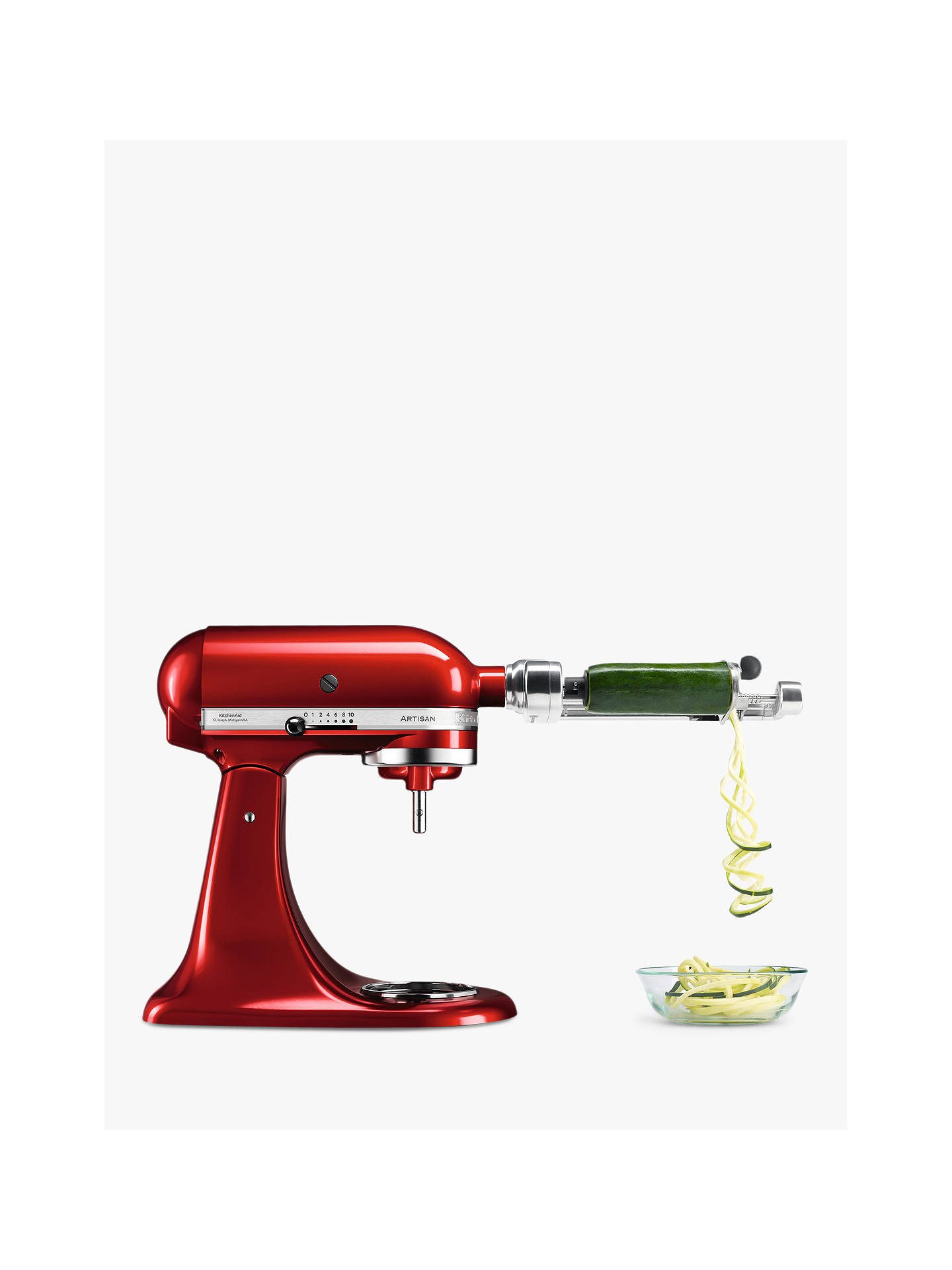 Buy KitchenAid 5KSM1APC Spiralizer with Peel, Core and Slice Online at johnlewis.com