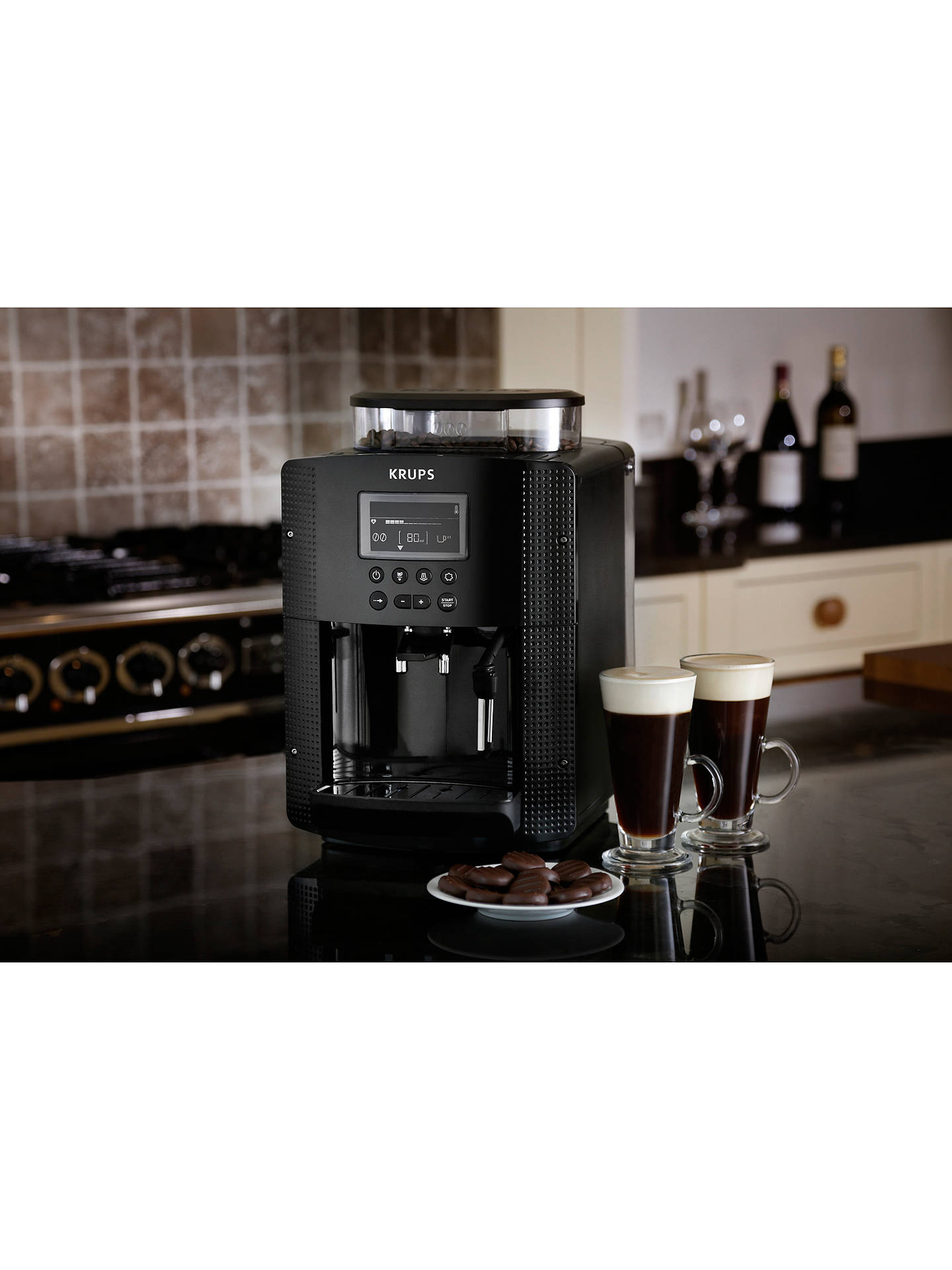 BuyKRUPS Espresseria EA8150 Bean-To-Cup Coffee Machine, Black Online at johnlewis.com