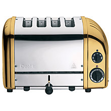 Buy Dualit NewGen Toaster, 4-Slice, Brass  + FREE Sandwich Cage Online at johnlewis.com