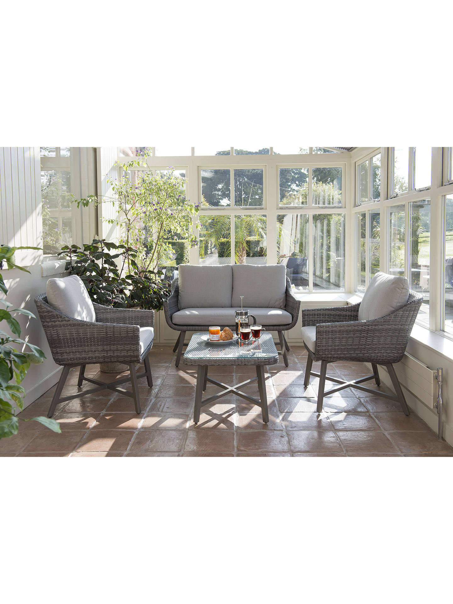 Buy KETTLER LaMode Small Garden Coffee Table, Grey Ash Online at johnlewis.com