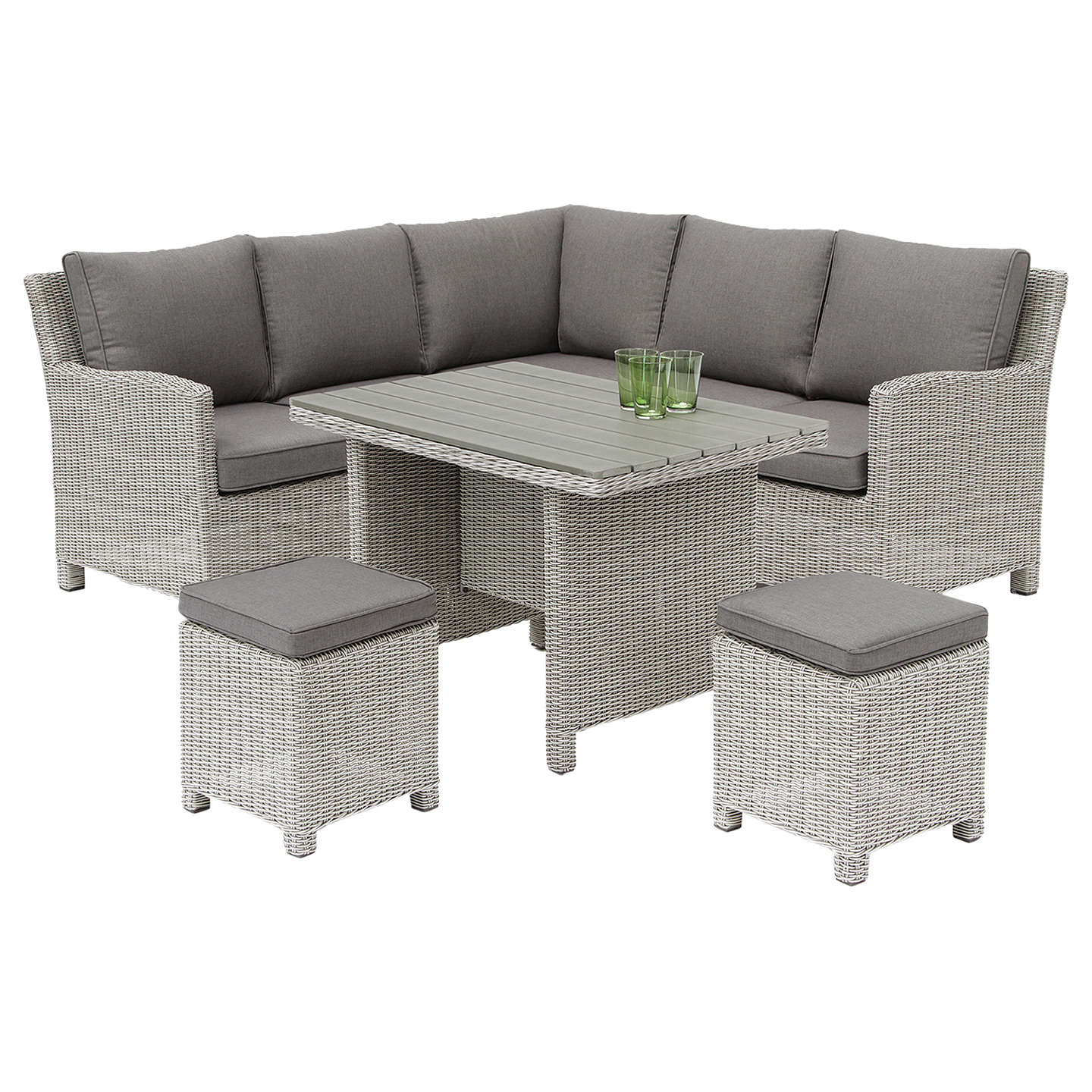 kettler palma 6 seater garden mini corner table and chairs set at
