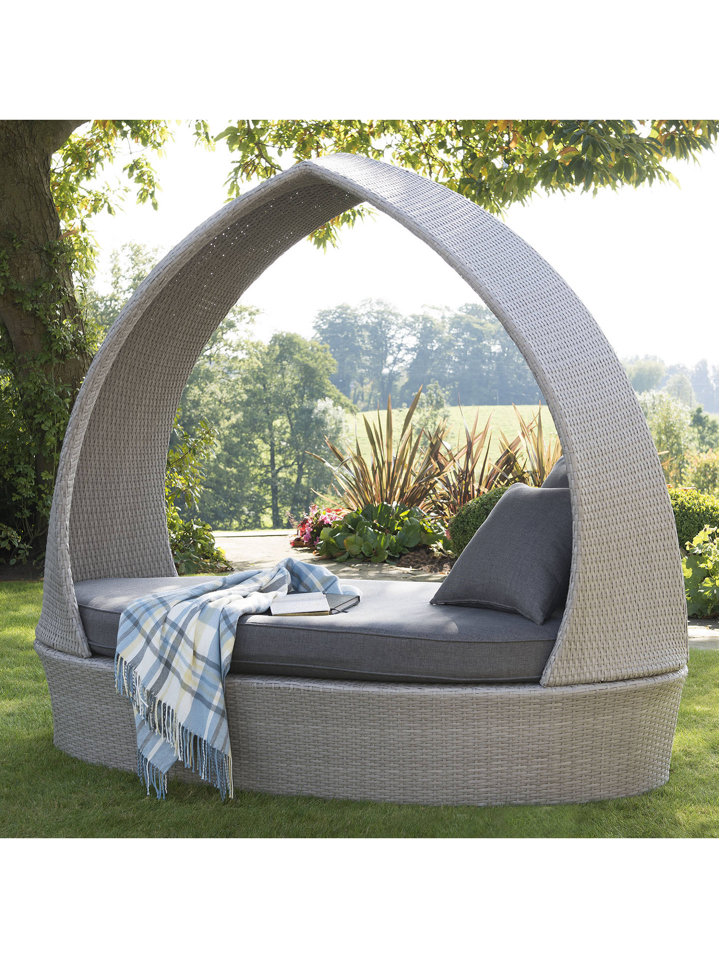 Buy KETTLER Palma Garden Pod Chair, White Wash Online at johnlewis.com