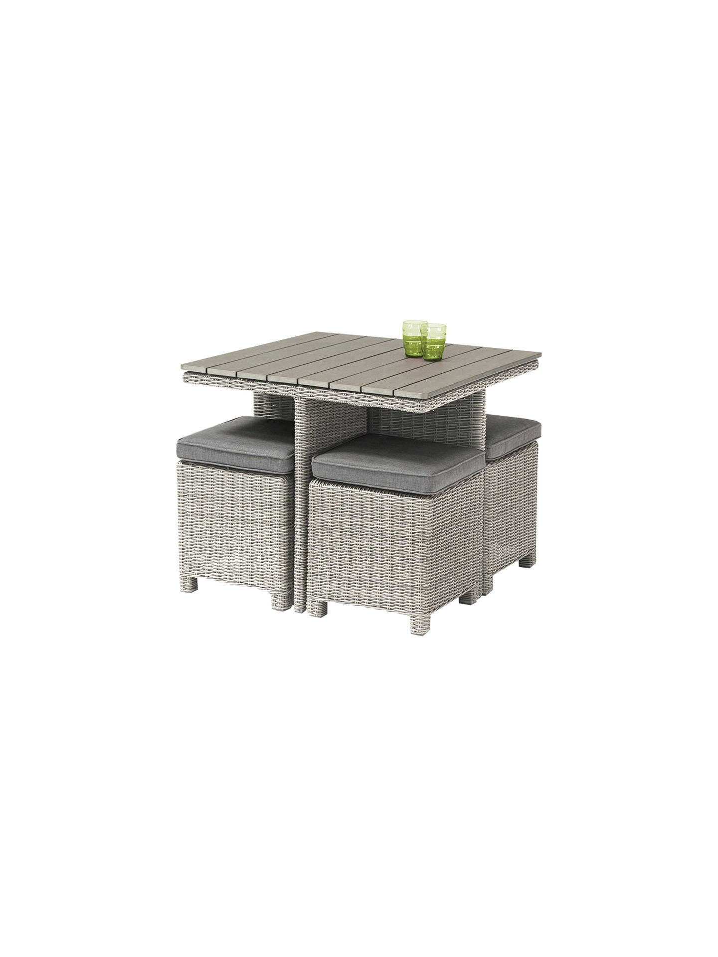 Kettler Palma 4 Seater Garden Cube Table And Chairs Set At