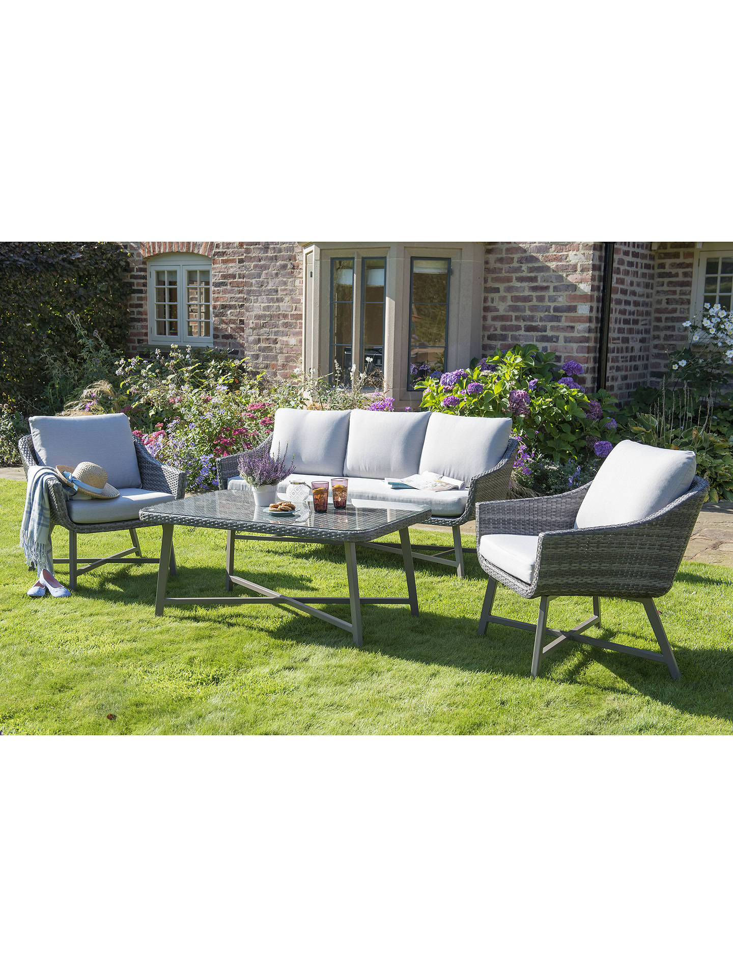 BuyKETTLER LaMode Lounge 3-Seater Garden Sofa with Cushions Online at johnlewis.com