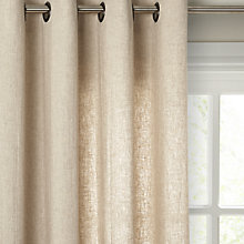 Buy John Lewis Washed Linen Voile Eyelet Panel Online at johnlewis.com