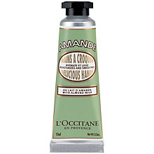 Buy L'Occitane Almond Delicious Hand Cream, 30ml Online at johnlewis.com
