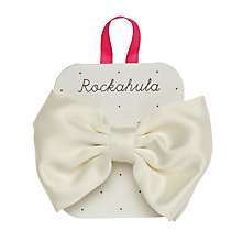 Buy Rockahula Satin Bow Barrette Hair Clip, Ivory Online at johnlewis.com