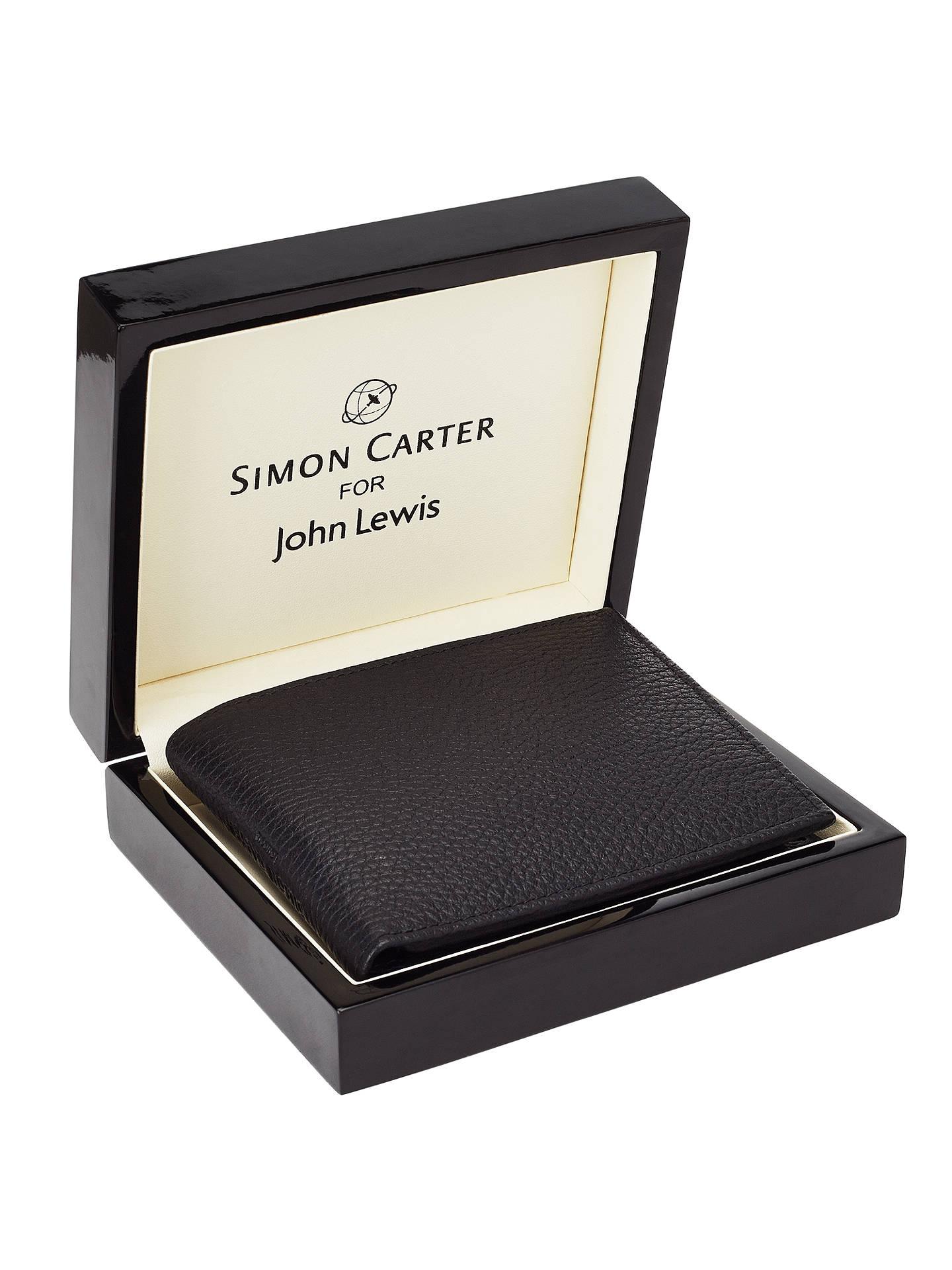 Black Simon Carter Mens Soft Leather Coin Wallet