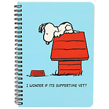 Buy Vintage Peanuts A5 Notebook Online at johnlewis.com