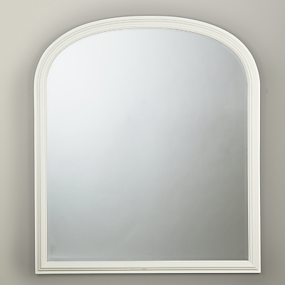 Croft Collection Large Overmantle Mirror, 120 x 100cm, White