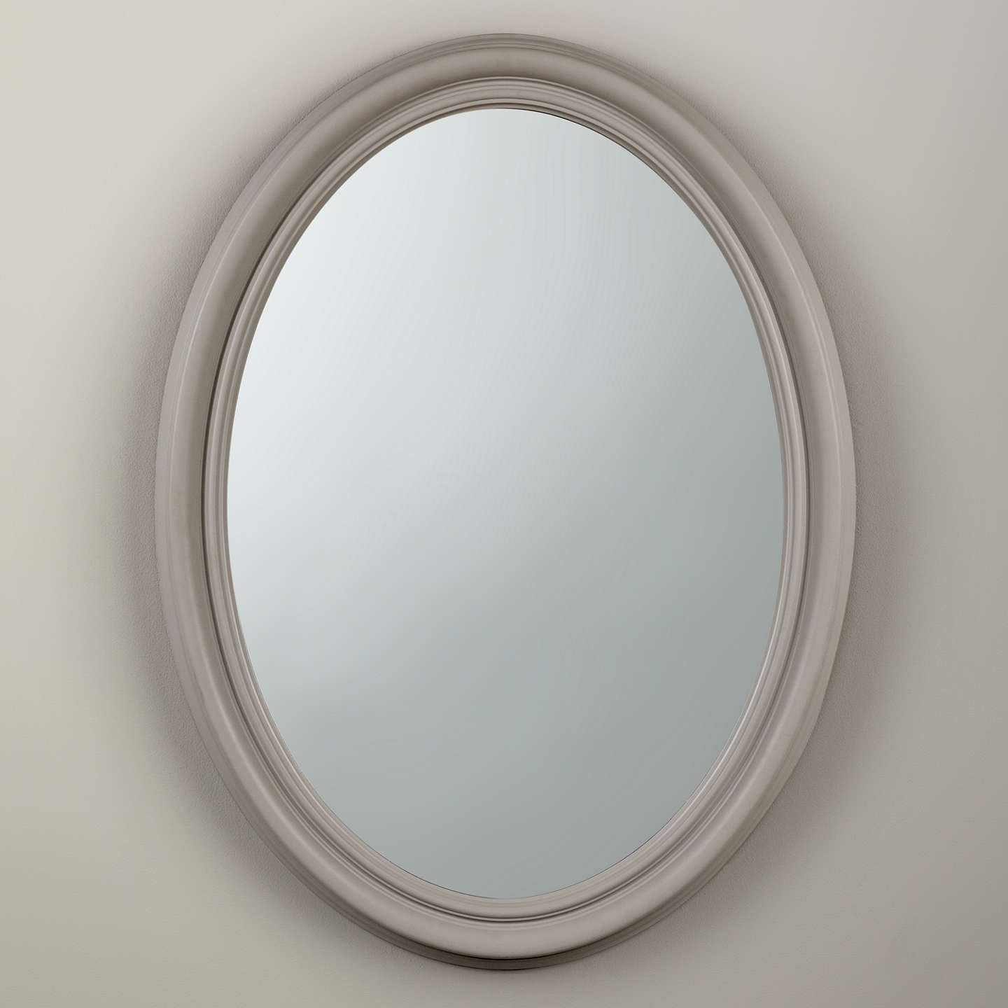 Croft collection oval medium mirror 80 x 60cm at john lewis for Mirror 80 x 60