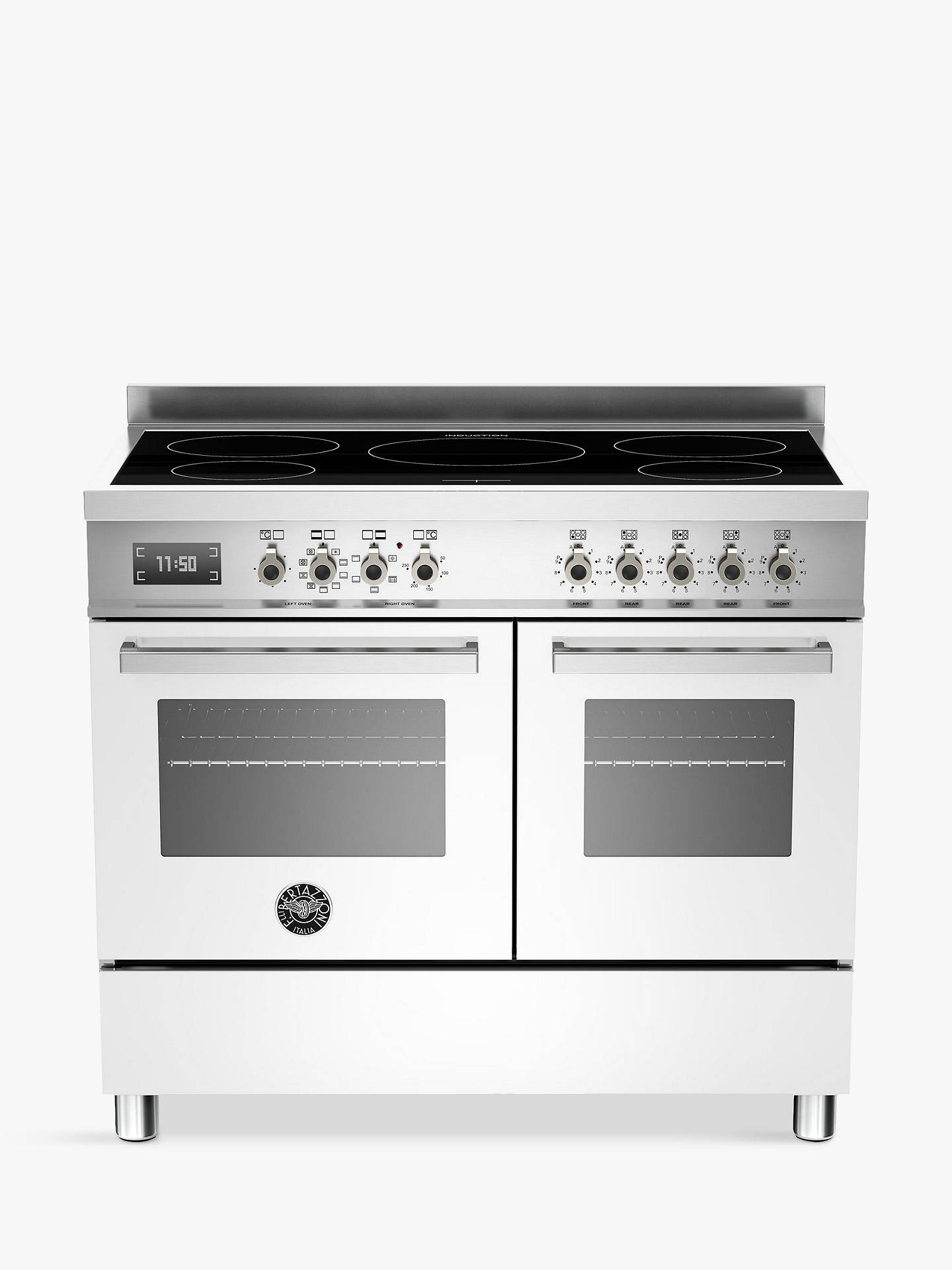 BuyBertazzoni Professional Series PRO100-5I-MFE-D-BIT 100cm Electric Induction Range Cooker, White Online at johnlewis.com