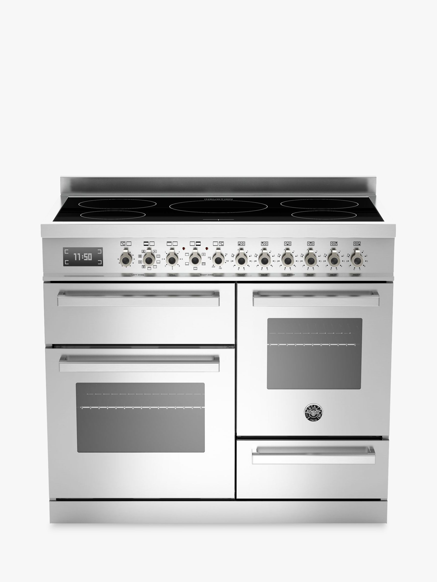Bertazzoni Professional Series 100cm Electric Induction Xg Range Cooker Stainless Steel Kitchen Wiring Code Canada At John Lewis Partners