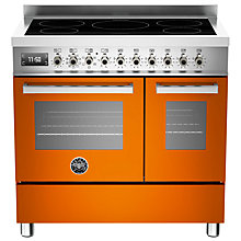 Buy Bertazzoni Professional Series 90cm Electric Induction Twin Range Cooker Online at johnlewis.com
