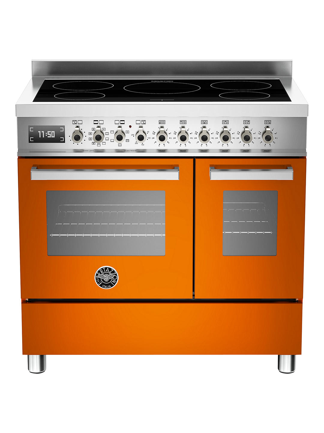 Buy Bertazzoni Professional Series PRO90-5I-MFE-D-ART 90cm Electric Induction Twin Range Cooker, Orange Online at johnlewis.com